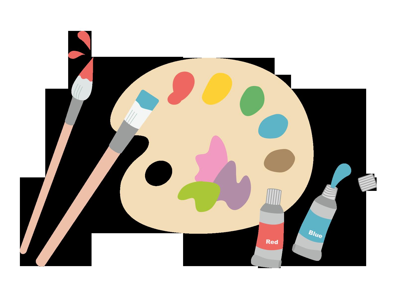 デザイナーの使う色のイラスト