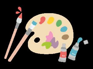 絵を描く道具のイラスト