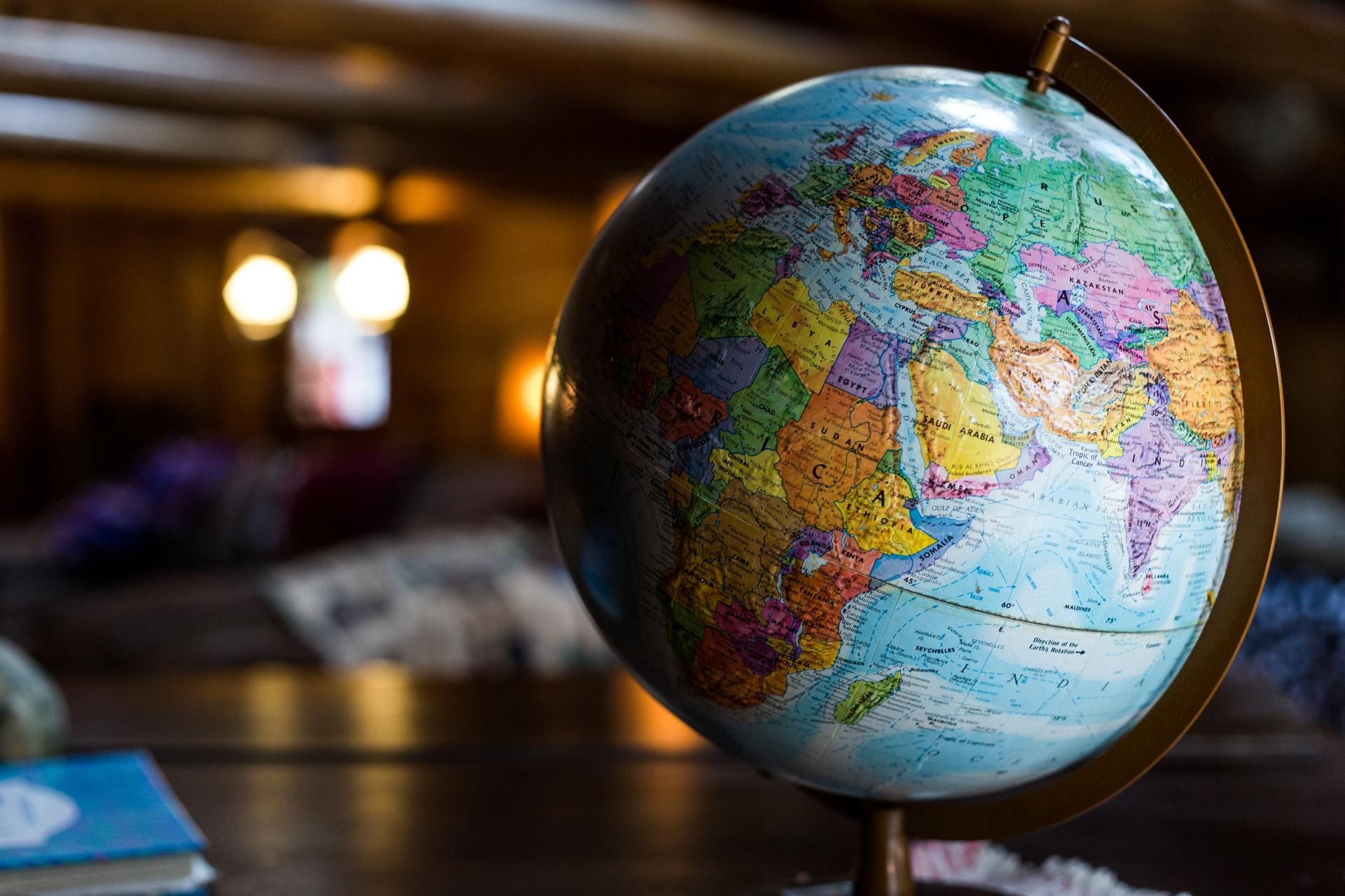 地球儀の写真