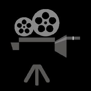 映画ぼ撮影カメラのイラスト