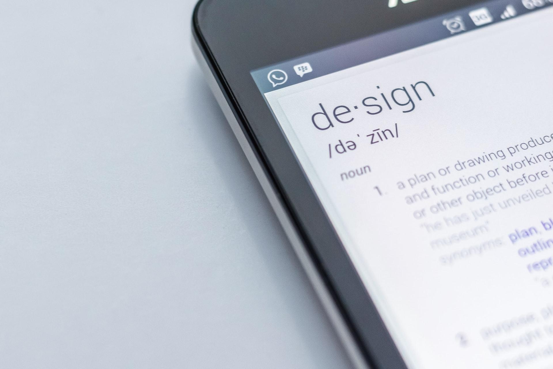「Design」をスマホで調べた結果