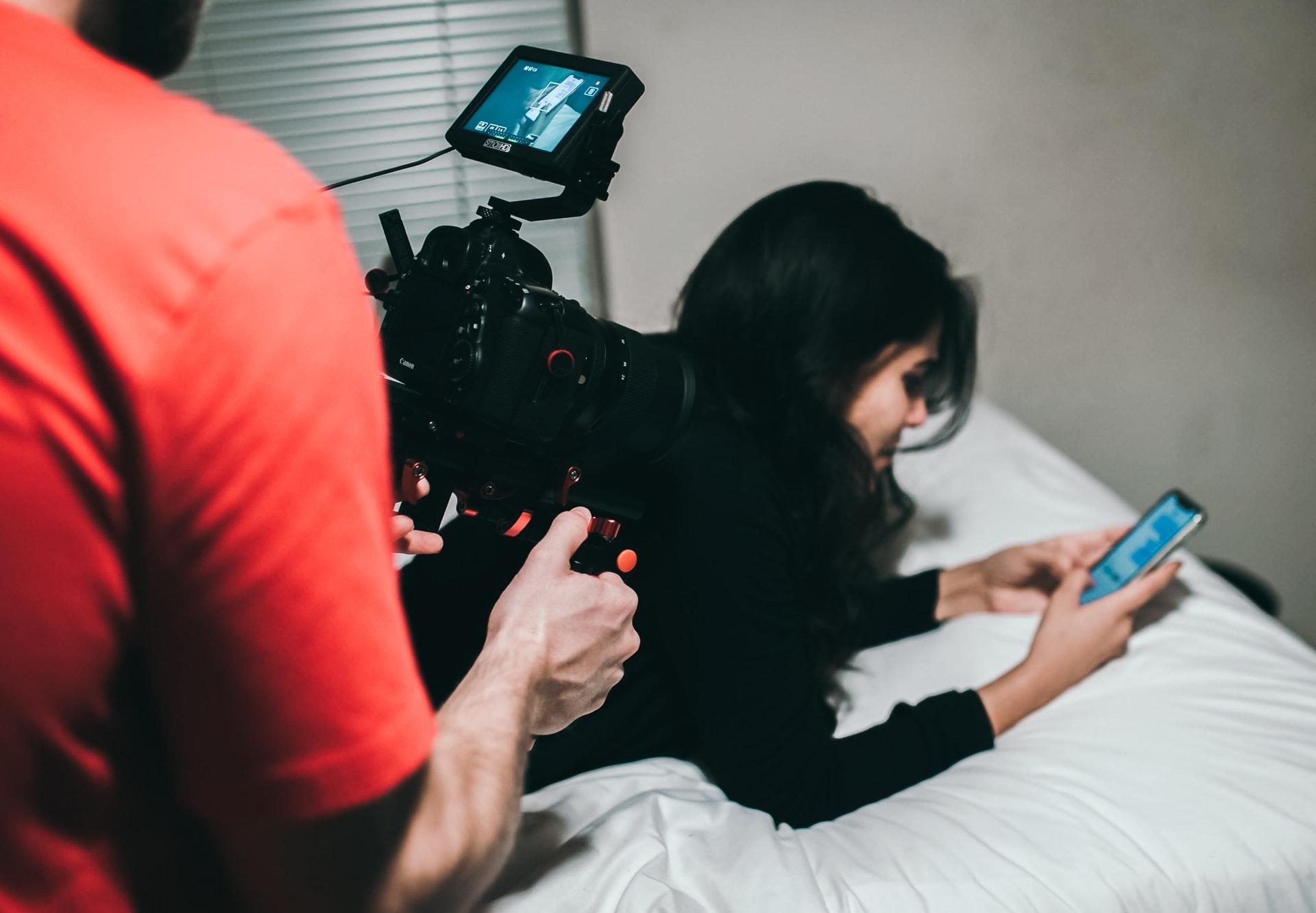 撮影される芸能人